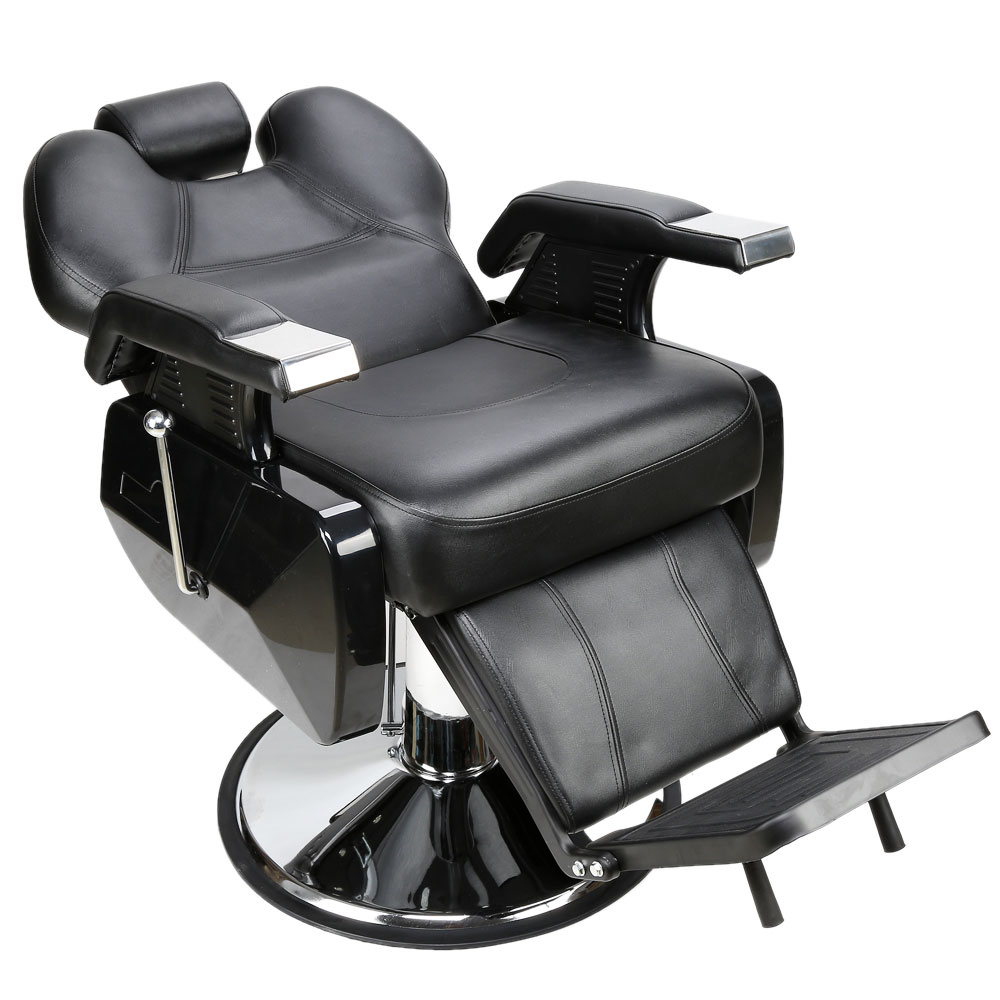 Hydraulic Wheelchair Seat : Black all purpose hydraulic recline barber chair hair
