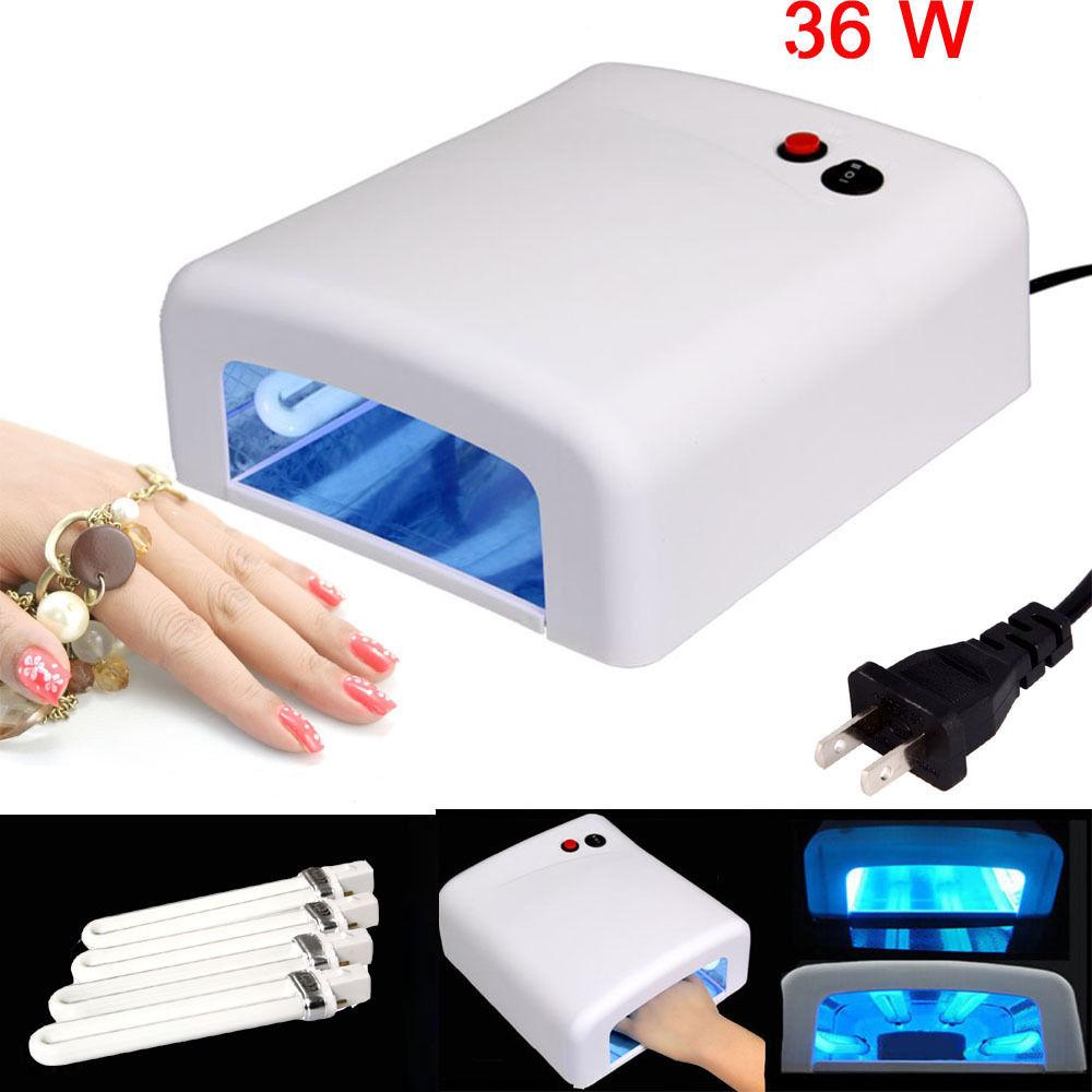 36w nail art uv lamp light dryer 4 x 9w salon gel curing for Salon uv