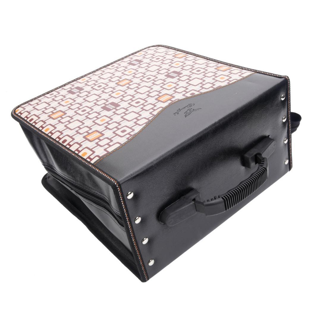 520 piece check pattern cd dvd storage bag holder media viedo case khaki black ebay - Dvd case holder shelf ...
