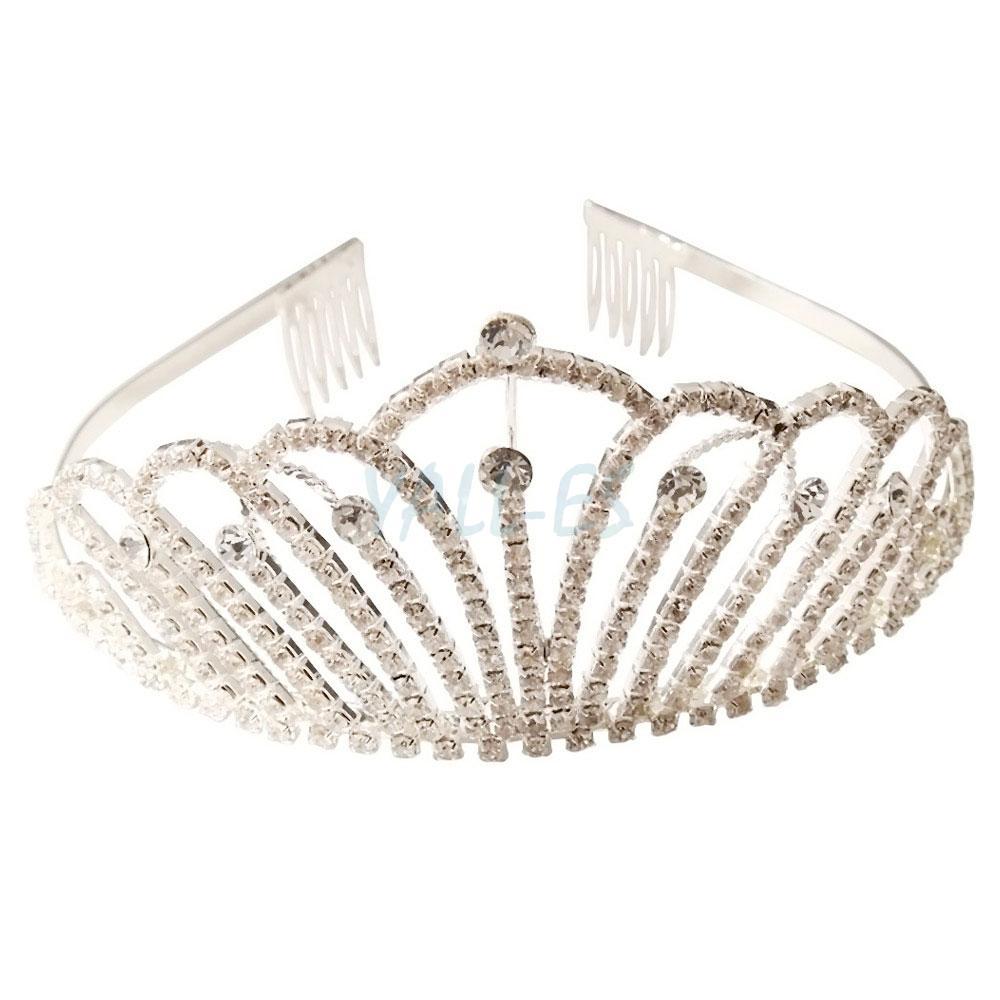Distinct Bridal Wedding Party Ceremony Rhinestone Crown Headband Tiara ...