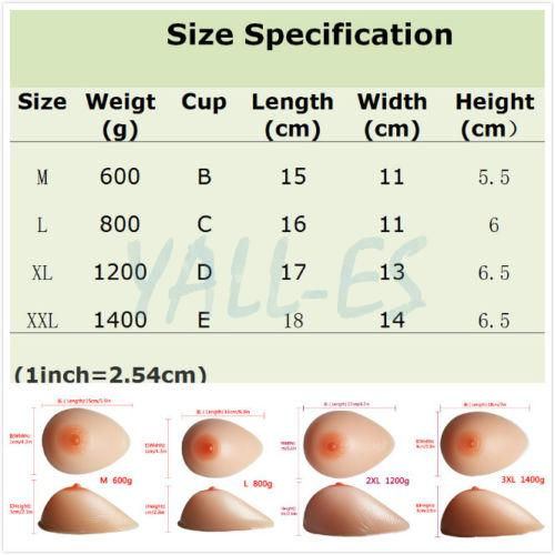 False Breast Breasts Silicone Forms Fake Boobs Realistic ... C Cup Breast Vs D Cup Breast