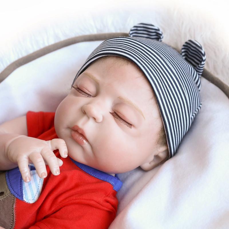 Handmade Full Silicone Body Newborn Baby Dolls Reborn Vinyl Sleep ... 73663a73b3
