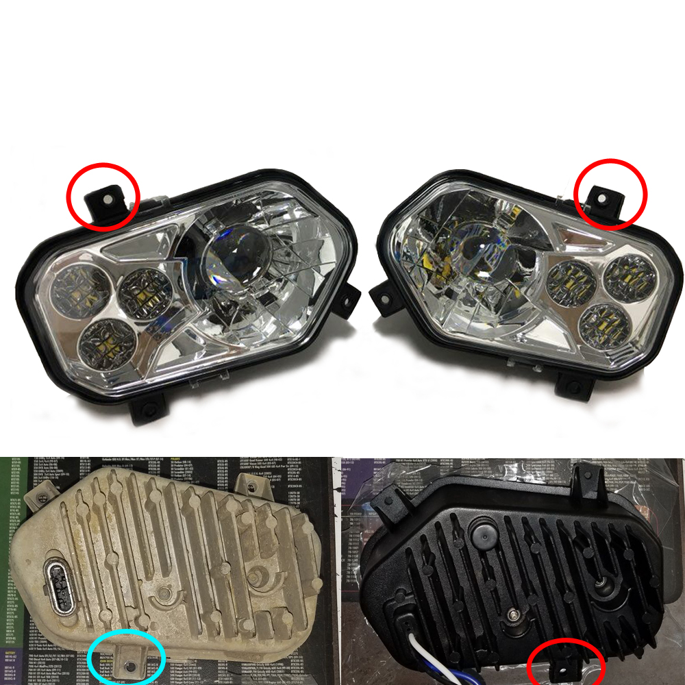 Details about 11-14 NEW LED CONVERSION HEADLIGHTS KIT For POLARIS RZR 800 /  RZR 900 XP STYLE