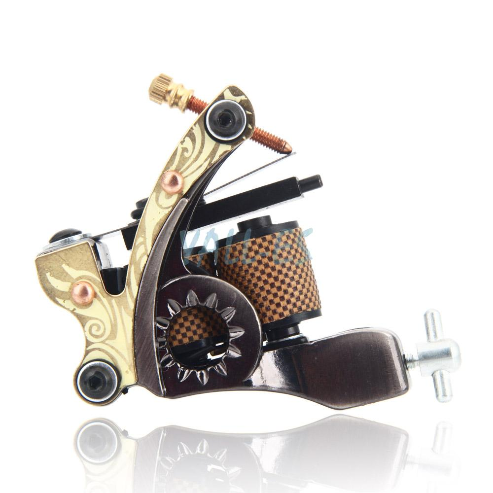 10 wrap coils low carbon steel tattoo machine gun for for Tattoo liner machine